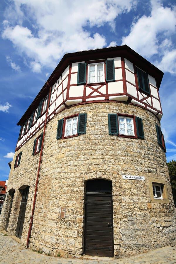Schwäbisch Corridoio è una città in Baviera, Germania immagini stock libere da diritti