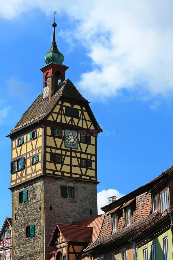 Schwäbisch Corridoio è una città in Baviera, Germania immagine stock