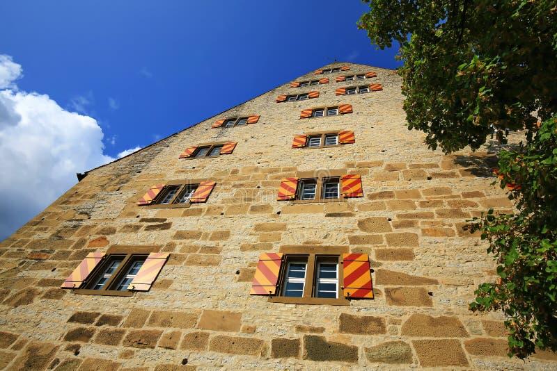 Schwäbisch Corridoio è una città in Baviera, Germania fotografia stock libera da diritti
