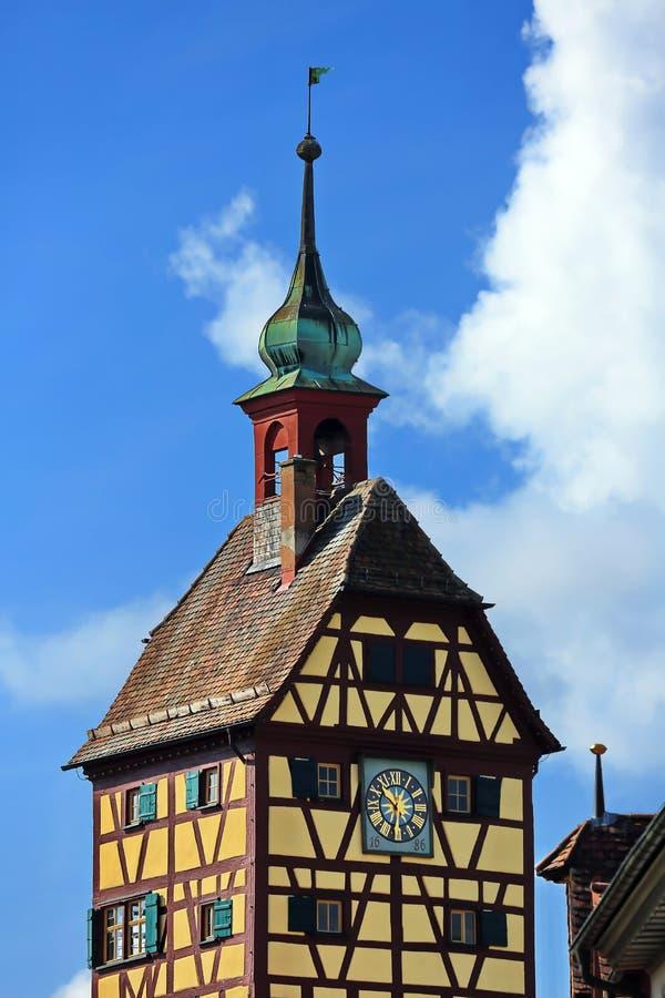 Schwäbisch Pasillo es una ciudad en Baviera, Alemania imagenes de archivo