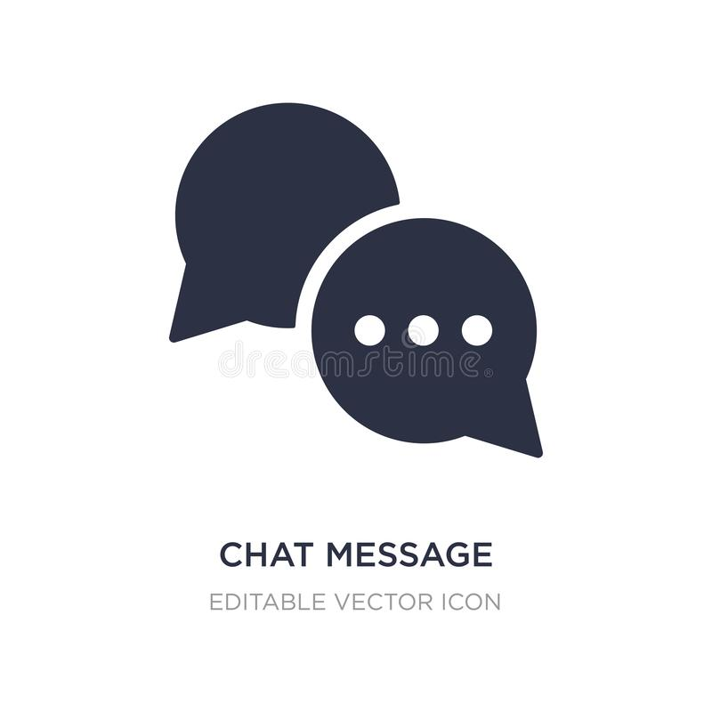 Schwätzchenmitteilungsikone auf weißem Hintergrund Einfache Elementillustration vom Kommunikationskonzept stock abbildung