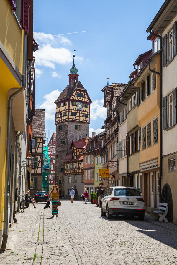 Schwäbisch Corridoio, Germania immagini stock libere da diritti