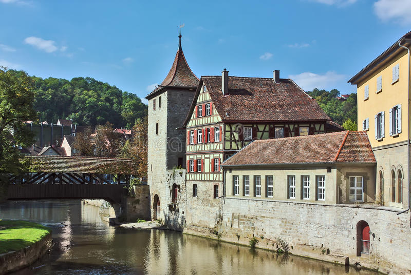 Schwäbisch Hall, Niemcy obraz royalty free