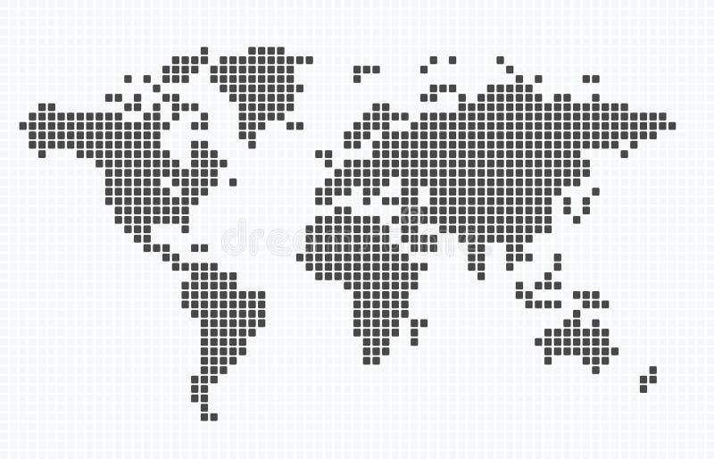 Schwärmerisch verehrte Karte der Welt lizenzfreie abbildung