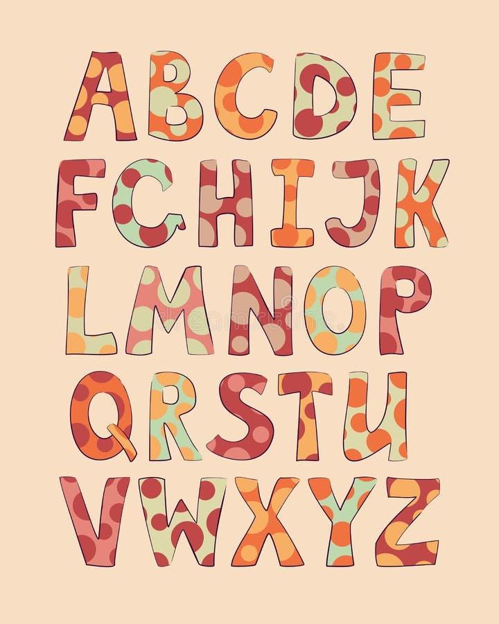 Schwärmerisch verehrte lustige Buchstaben lizenzfreie abbildung