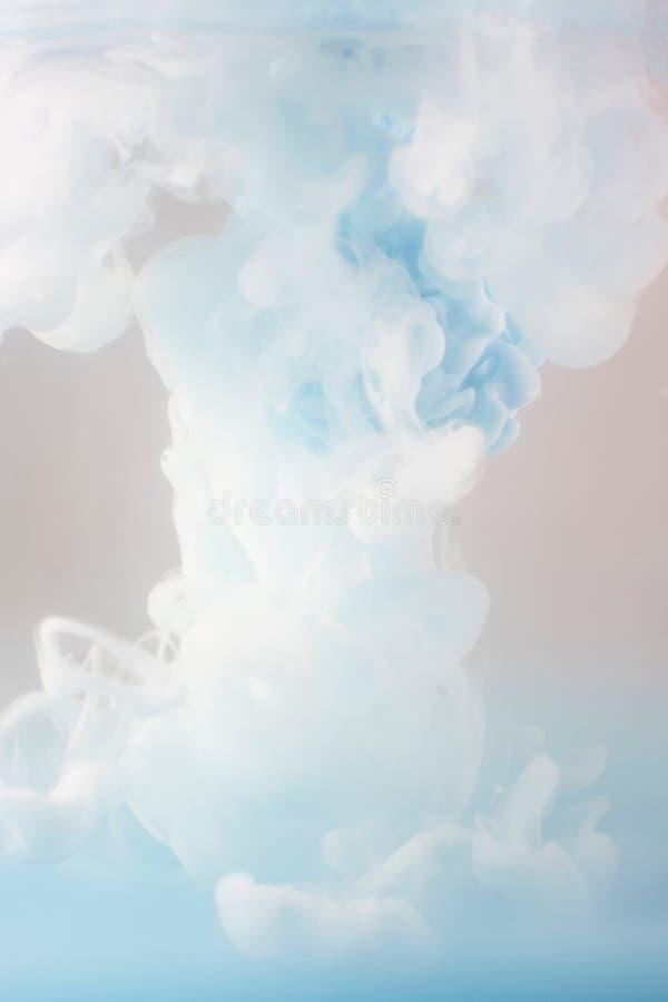 Schwärzen Sie das Wirbeln in Wasser, Wolke der Tinte im Wasser mit Tinte lizenzfreie stockbilder