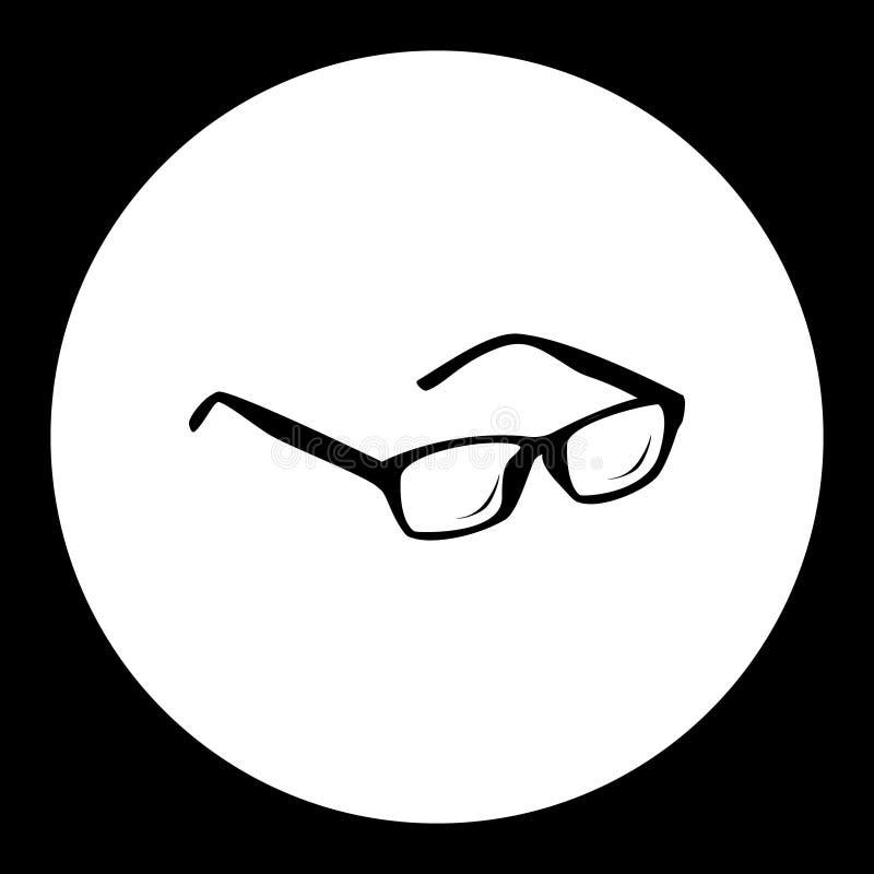Schwärzen Sie lokalisierte einfache Ikone eps10 des Augenglas-Symbols lizenzfreie abbildung