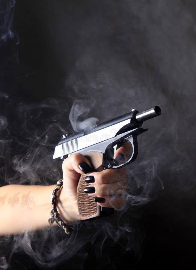 Schwärzen Sie Pistole stockbild