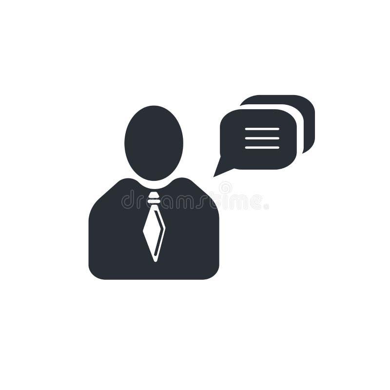 Schwätzchen-Mitteilungsikonenvektorzeichen und -symbol lokalisiert auf weißem Hintergrund, Schwätzchen-Mitteilungslogokonzept stock abbildung