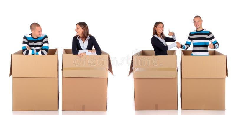 Schwätzchenkasten-Freundpaare lizenzfreie stockfotografie
