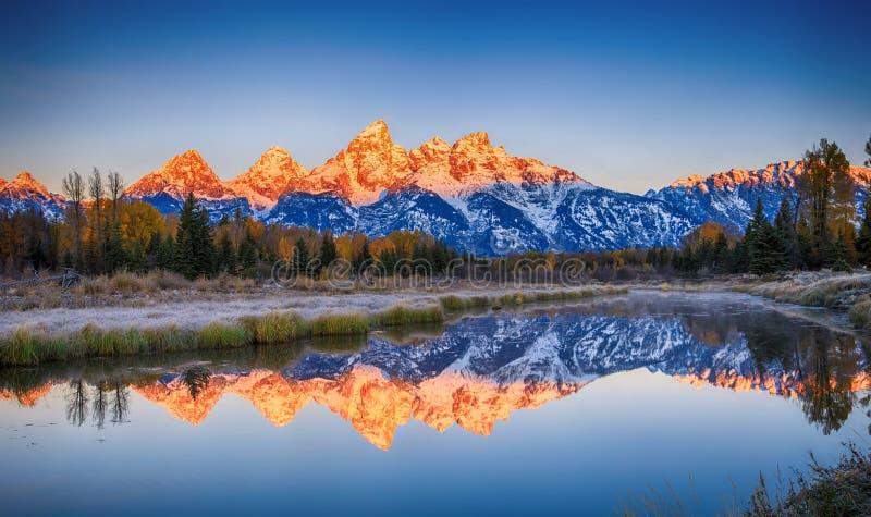 Schwabacher ` die s, het Nationale Park van Grand Teton landen stock afbeelding