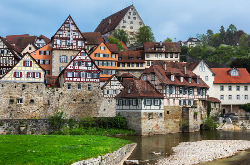 Schwabisch Hall, Germany. Schwabisch Hall is one of the most beautiful medieval towns in Germany. It is situated at the Kocher river in the federal state of royalty free stock photo
