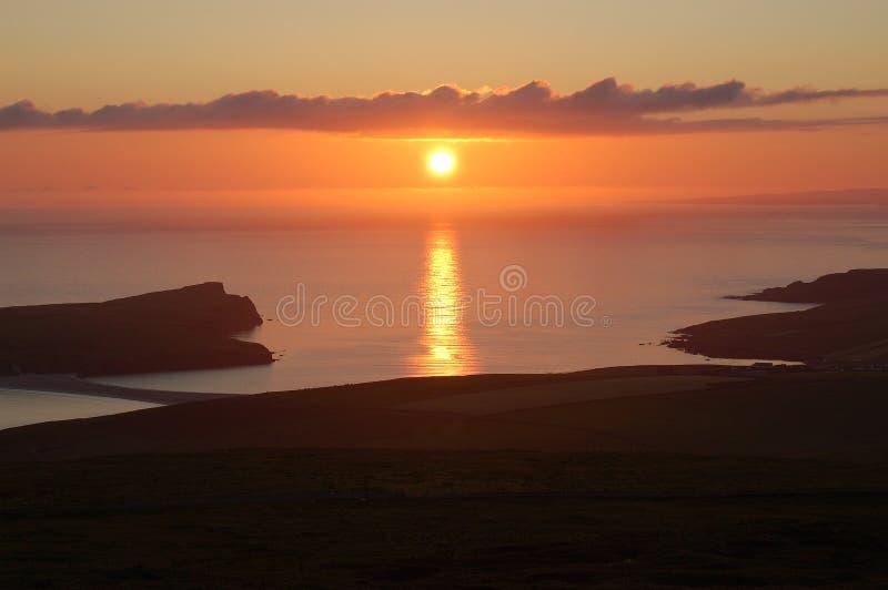 Schwacher Sonnenuntergang des Simmer stockfoto