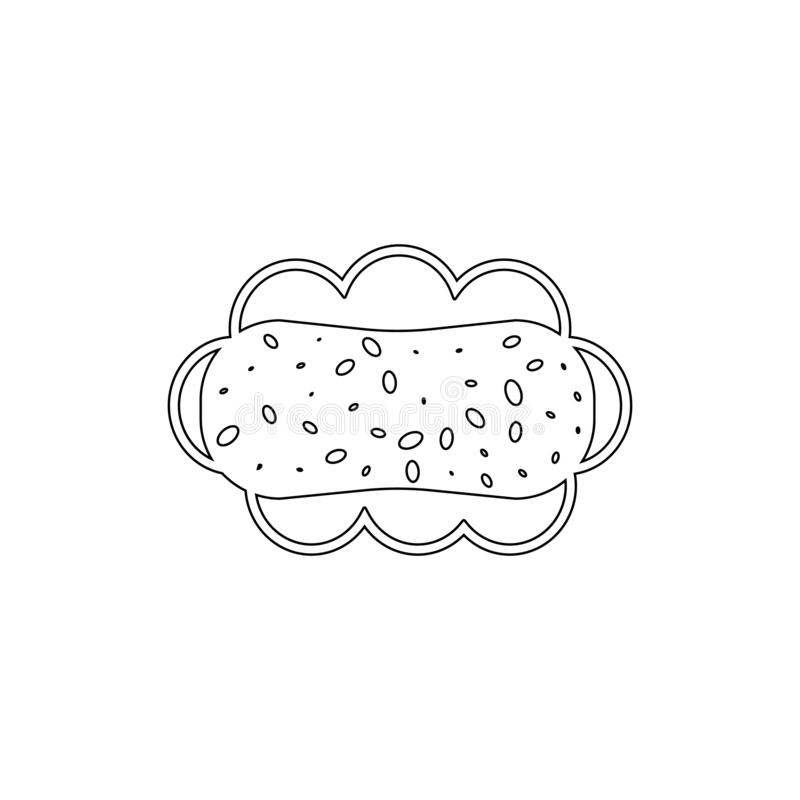Schwamm für das Baden der Entwurfsikone Badezimmer- und Saunaelementikone Erstklassiges Qualit?tsgrafikdesign Zeichen, Symbolsamm stock abbildung