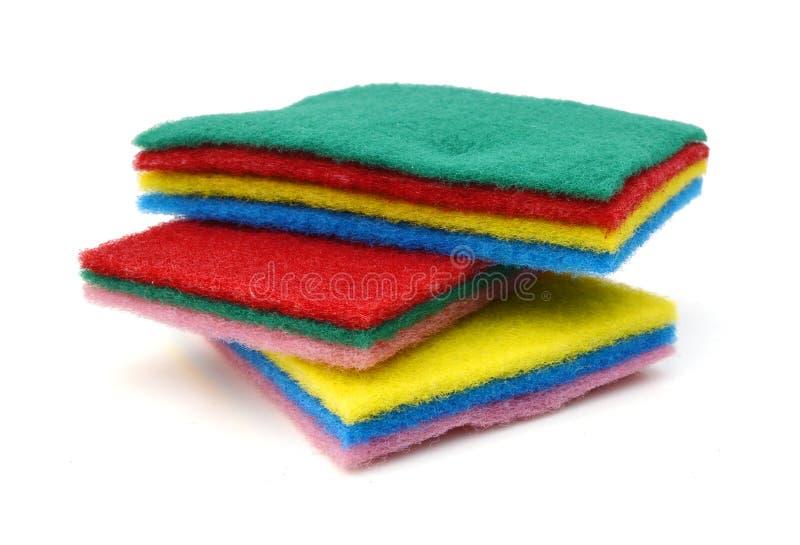 Schwamm für waschende Teller stockfotos