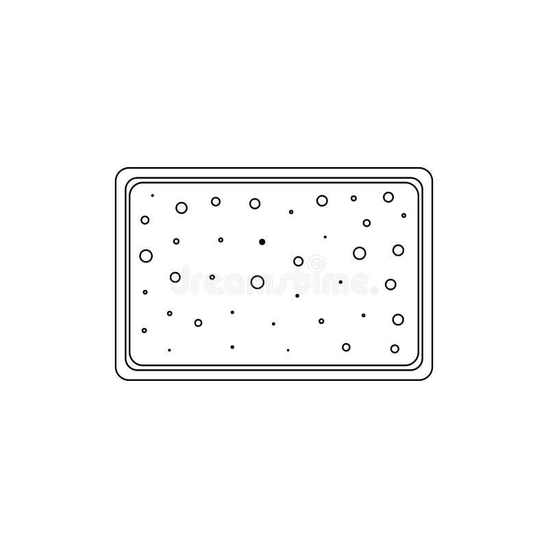 Schwamm f?r das Baden der Entwurfsikone Badezimmer- und Saunaelementikone Erstklassiges Qualit?tsgrafikdesign Zeichen, Symbolsamm lizenzfreie abbildung