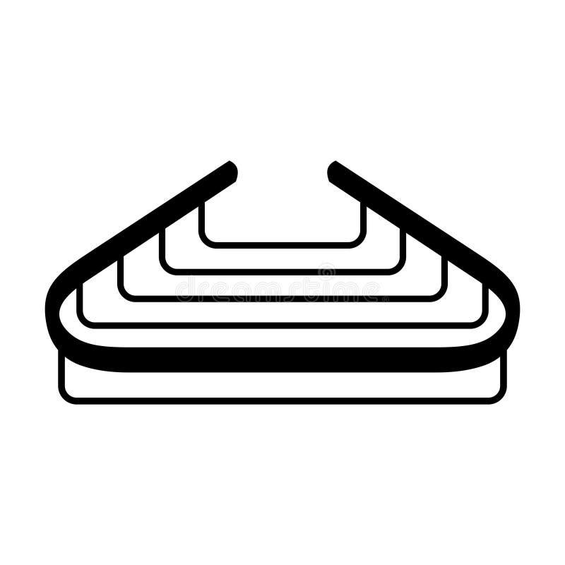 Schwamm- und Seifenhalter lizenzfreie abbildung