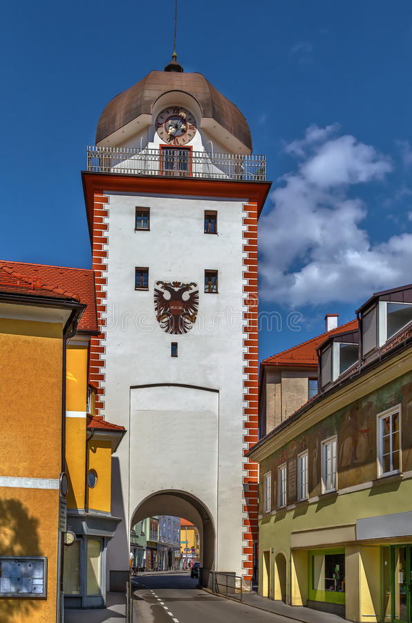Schwammerlturm en Leoben, Austria foto de archivo