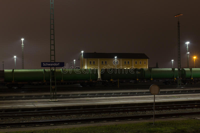 Schwandorf的火车站 库存图片