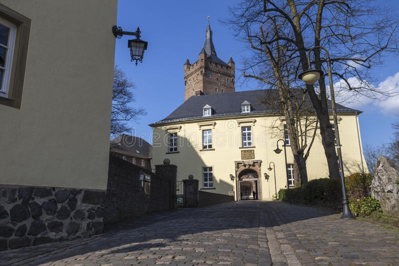 Schwanenburg kasztelu kleve Germany obrazy stock