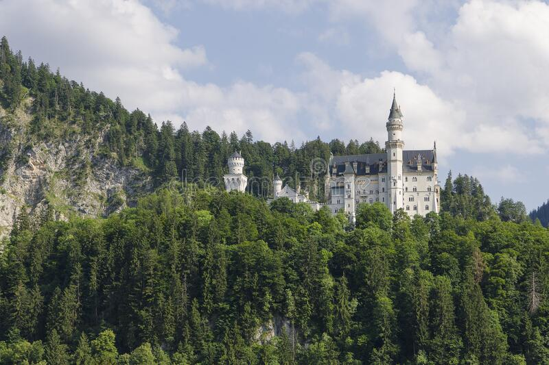 Neu Schwanstein the famous caslte of Ludwig II, which was the inspiration for Disney. Schwangau, Bavaria, Germany - July 20, 2019; Neu Schwanstein the famous royalty free stock photography