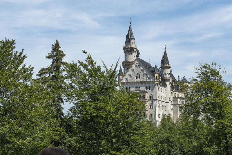 Neu Schwanstein the famous caslte of Ludwig II, which was the inspiration for Disney. Schwangau, Bavaria, Germany - July 20, 2019; Neu Schwanstein the famous royalty free stock images