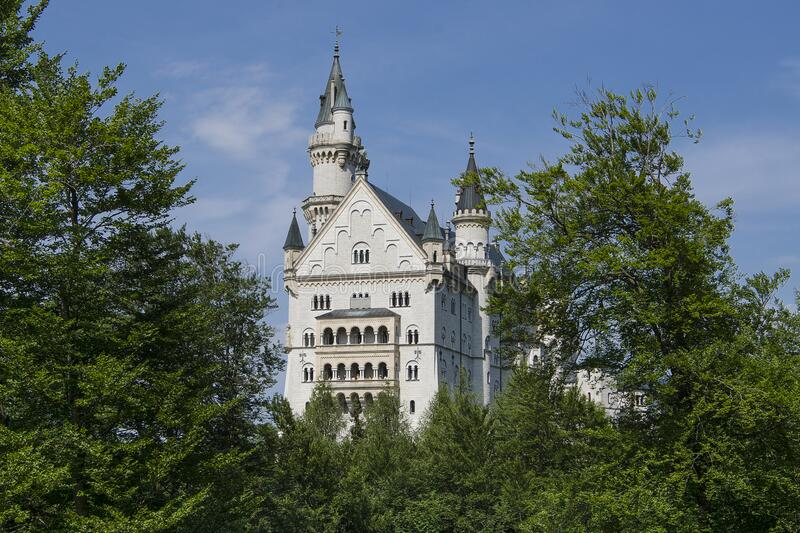 Neu Schwanstein the famous caslte of Ludwig II, which was the inspiration for Disney. Schwangau, Bavaria, Germany - July 20, 2019; Neu Schwanstein the famous stock photography