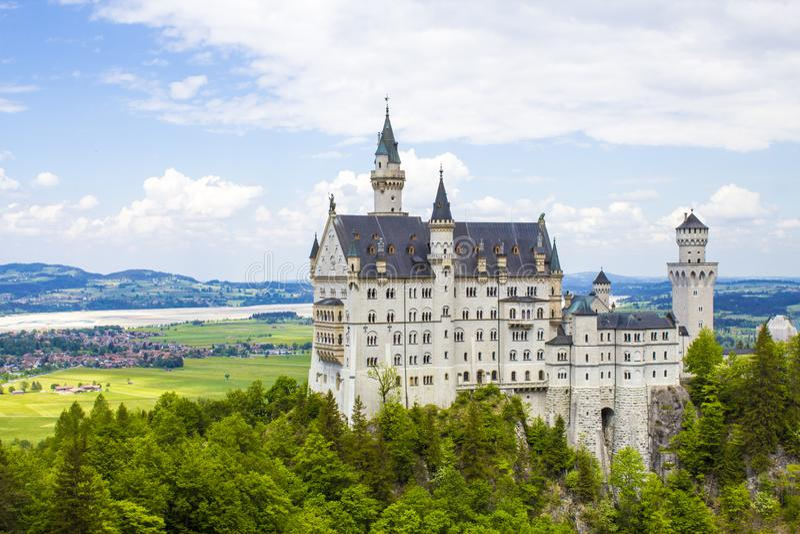 Schwangau, castello del Neuschwanstein - della Germania immagini stock libere da diritti