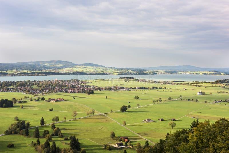 Schwangau un valle en Baviera imágenes de archivo libres de regalías