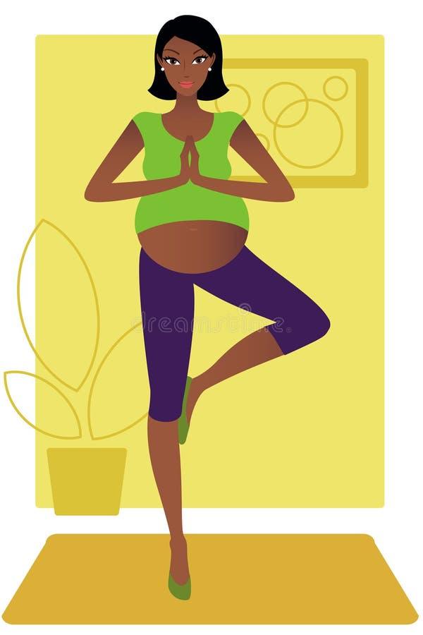 Schwangere Afroamerikanerfrau vektor abbildung