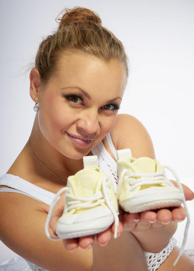Schwangere Frau lizenzfreie stockfotos