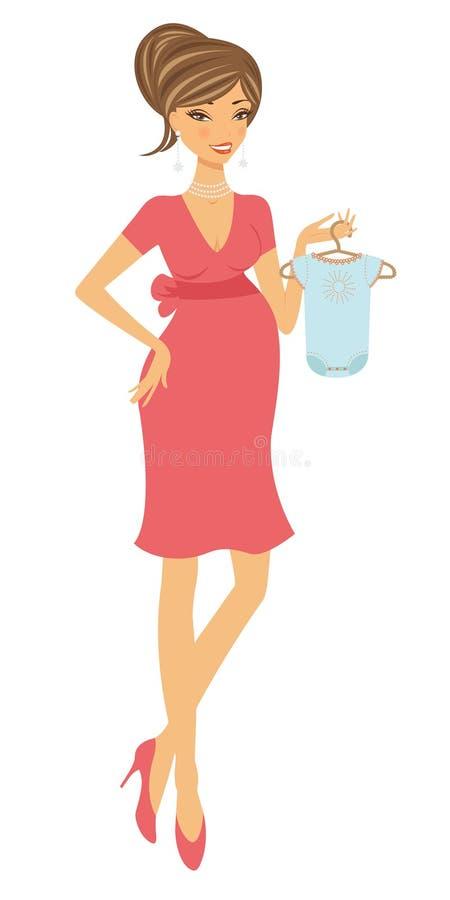 Schwangere Frau des Kükens lizenzfreie abbildung