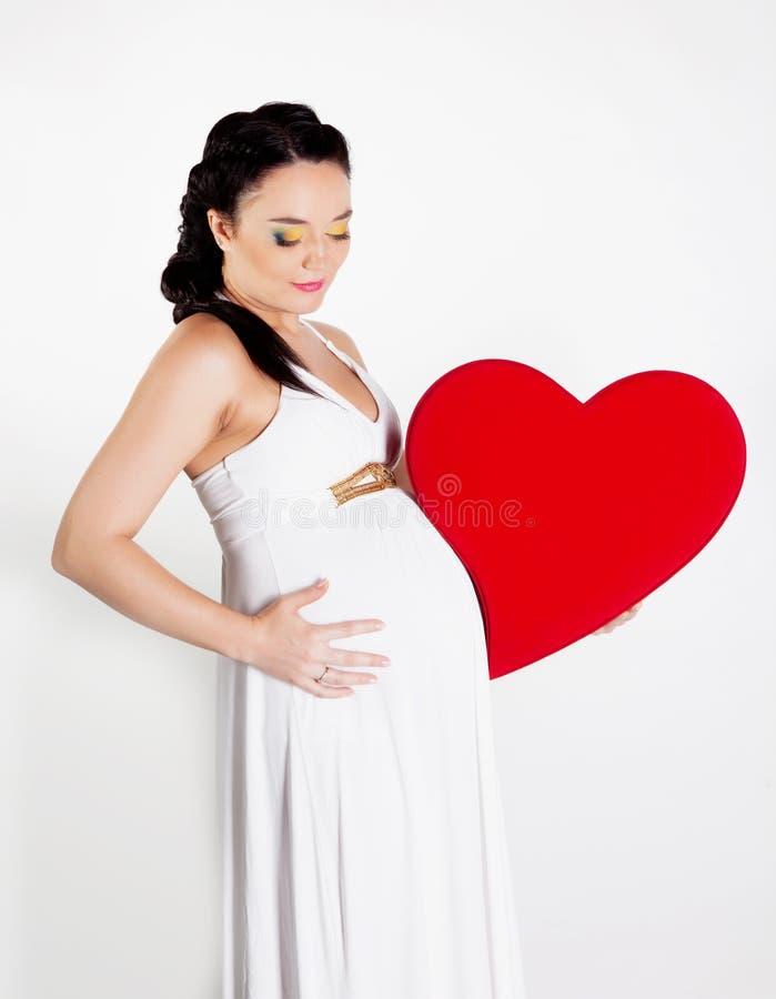 Download Schwangere Frau Mit Innerem Stockbild - Bild von schönheit, hintergrund: 26364831