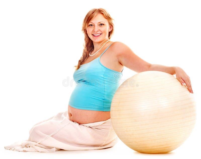 Schwangere Frau tragen zur Schau. lizenzfreie stockbilder