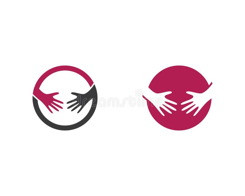 Schwangere Logoschablone lizenzfreie abbildung