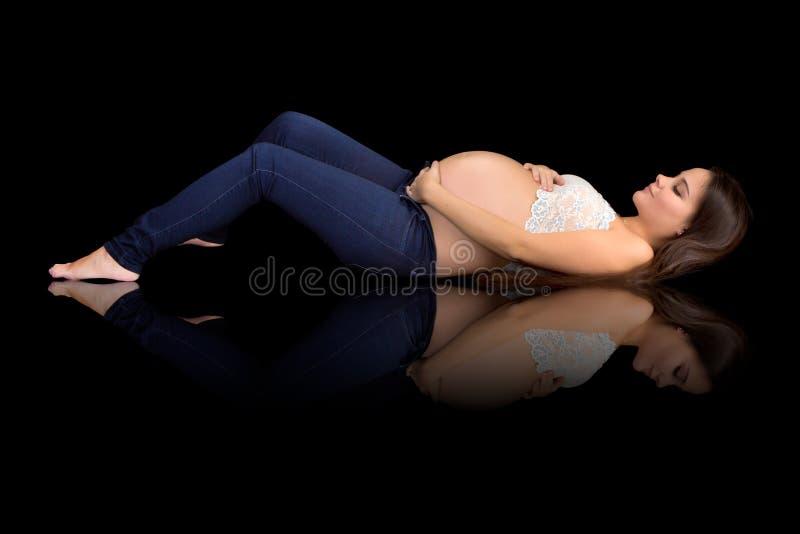 Schwangere Schönheit lizenzfreies stockfoto