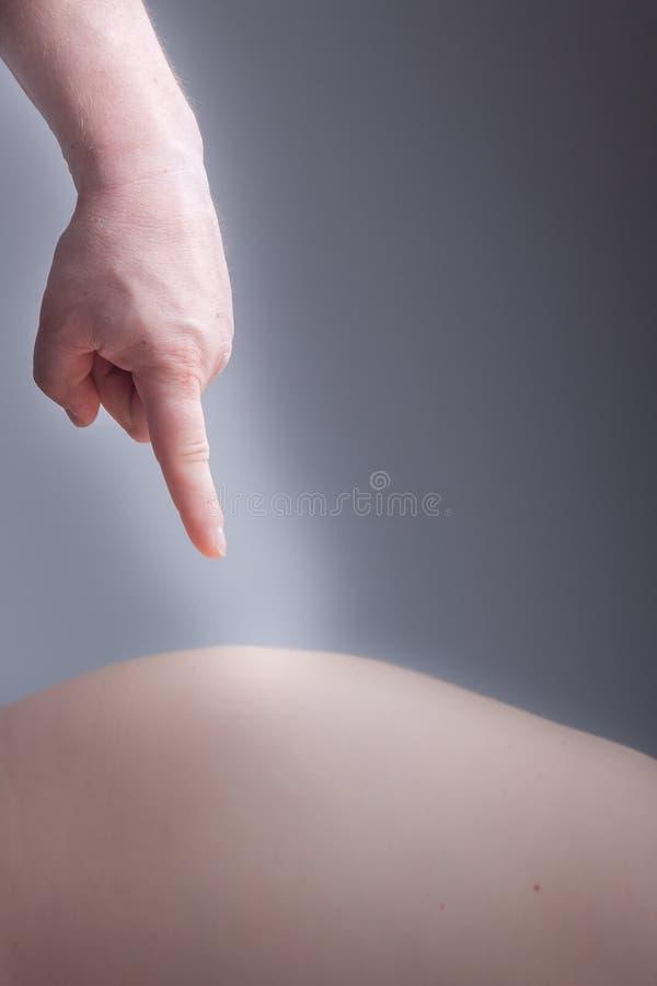 Schwangerer Bauch lizenzfreies stockfoto