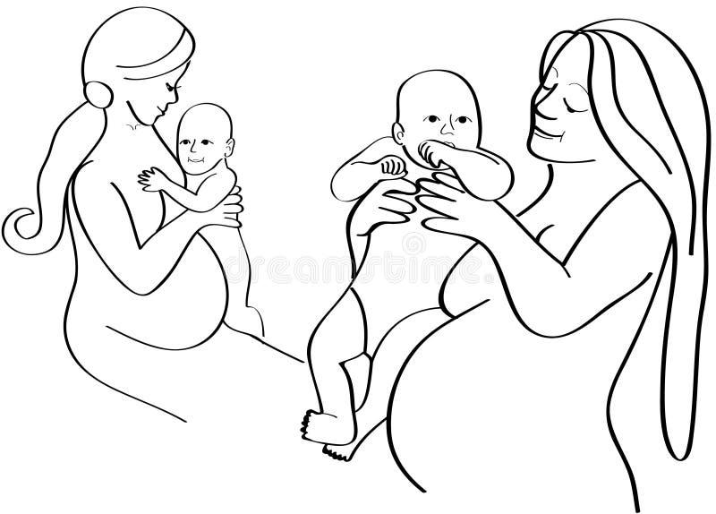 Download Schwangerschaft vektor abbildung. Illustration von wenig - 9088570