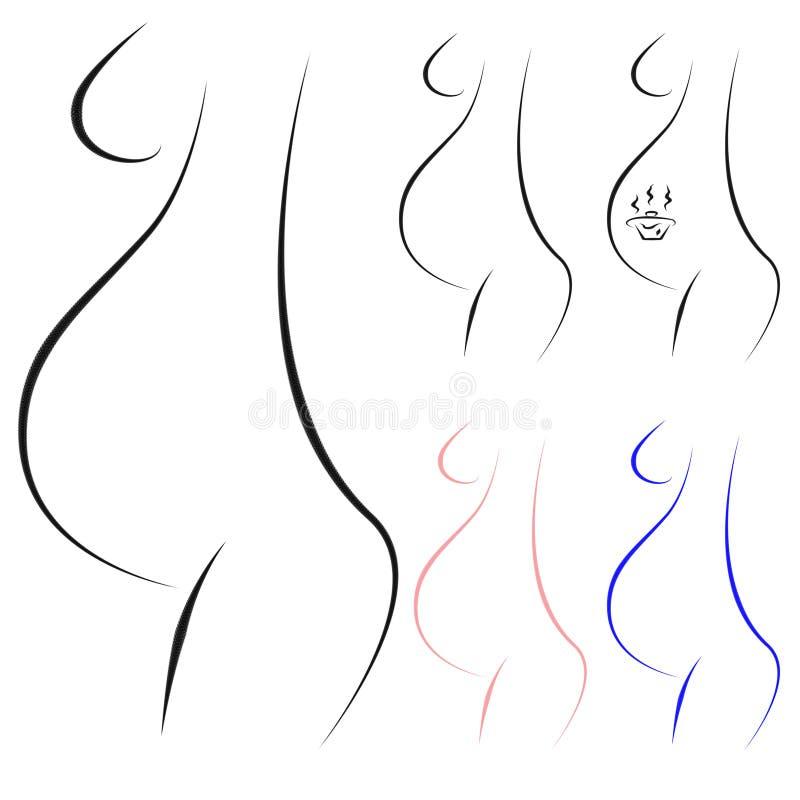 Schwangerschaftzeichen vektor abbildung