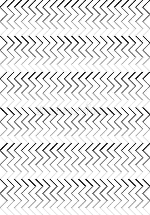 Schwarz- u. White Stripes-Muster lizenzfreie abbildung