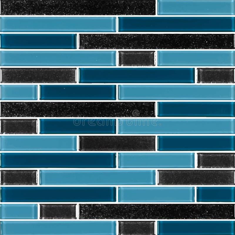 Schwarz und blau das wirkliche Foto oder der Ziegelstein der Fliesenwandhohen auflösung nahtlos und Beschaffenheitsinnenhintergru lizenzfreie abbildung