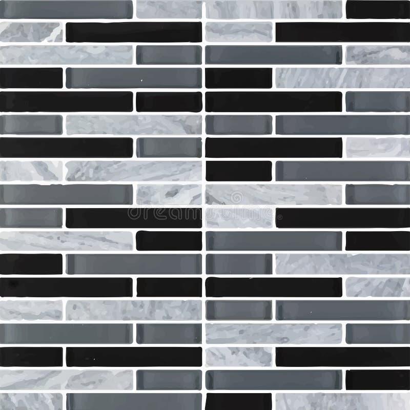 Schwarz und grau das wirkliche Foto oder der Ziegelstein der Fliesenwandhohen aufl?sung nahtlos und Beschaffenheitsinnenhintergru stock abbildung
