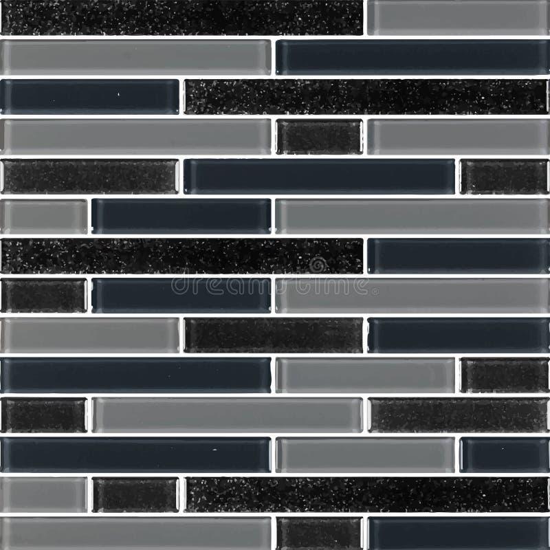 Schwarz und grau das wirkliche Foto oder der Ziegelstein der Fliesenwandhohen aufl?sung nahtlos und Beschaffenheitsinnenhintergru lizenzfreie abbildung