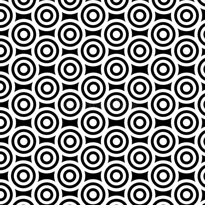Schwarz-weiße Kreise stock abbildung