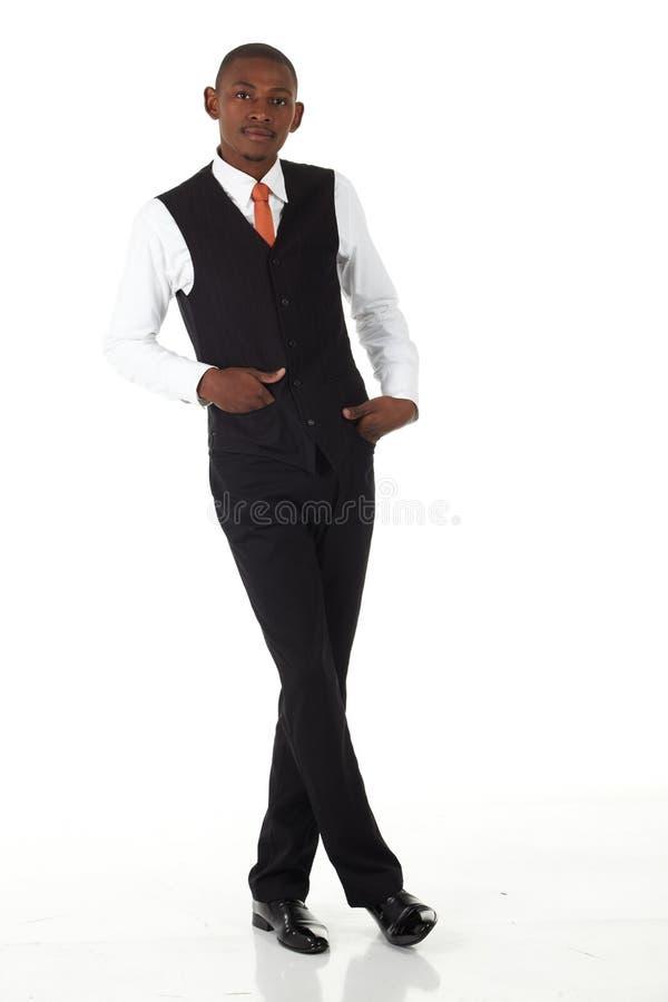 Schwarzafrikaner-Geschäftsmann stockfoto