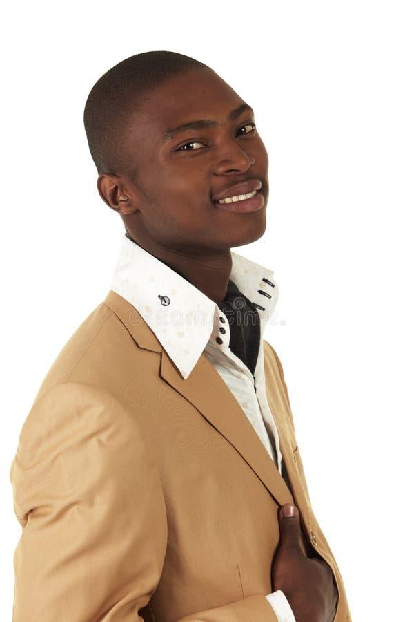 Schwarzafrikanergeschäftsmann stockfoto