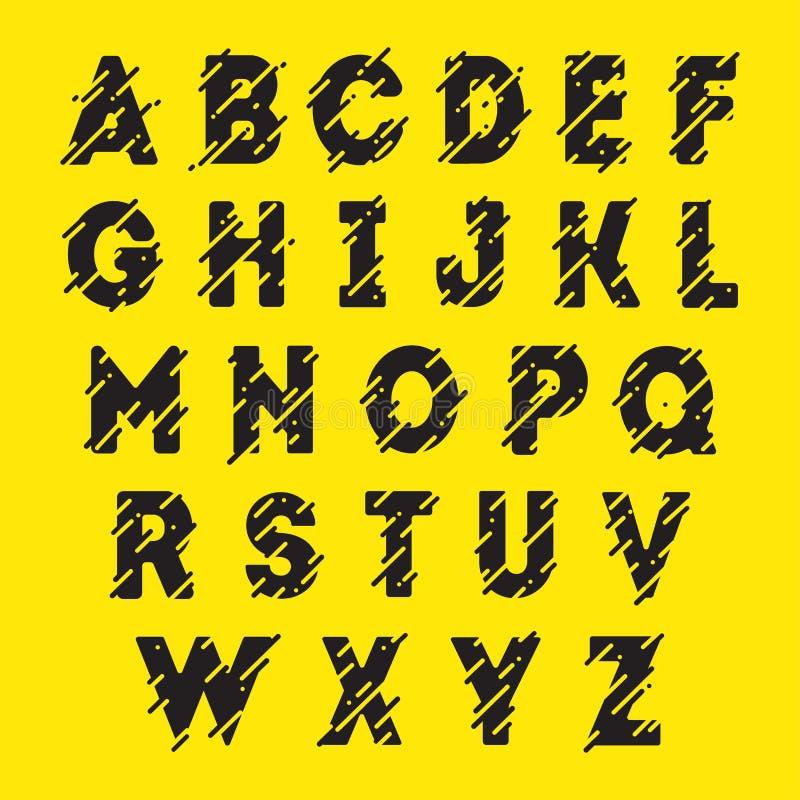 Schwarze alphabetische Güsse lizenzfreies stockbild