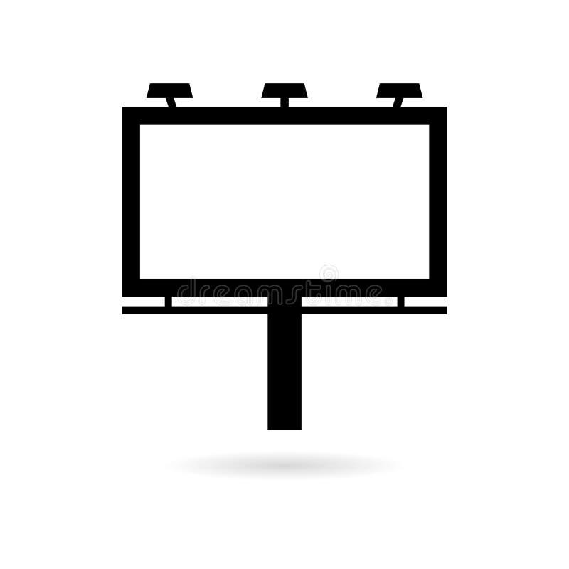 Schwarze Anschlagtafelikone oder -logo lizenzfreie abbildung