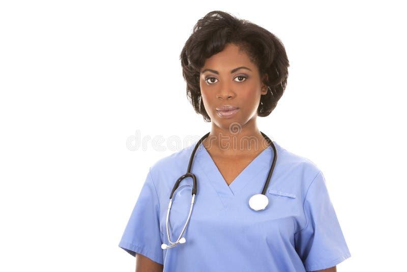 Schwarze Arzthelferin stockfoto