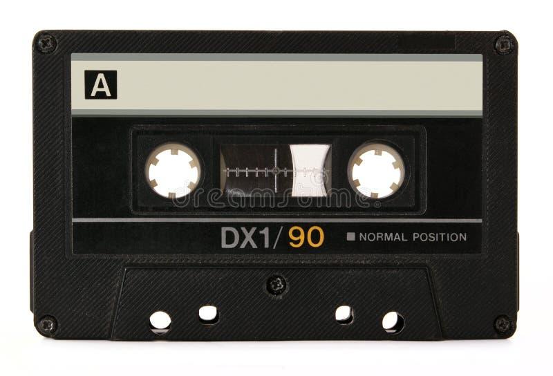 Schwarze Audiokassette Lizenzfreie Stockfotografie